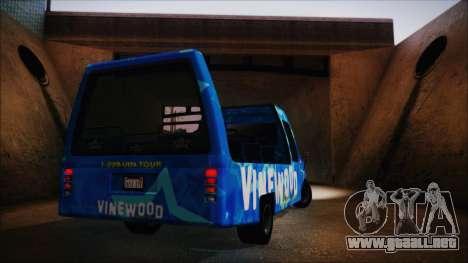Vinewood VIP Star Tour Bus (Fixed) para la visión correcta GTA San Andreas