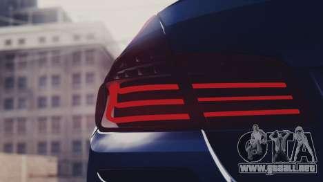 BMW M5 F10 Stock MTA Version para visión interna GTA San Andreas