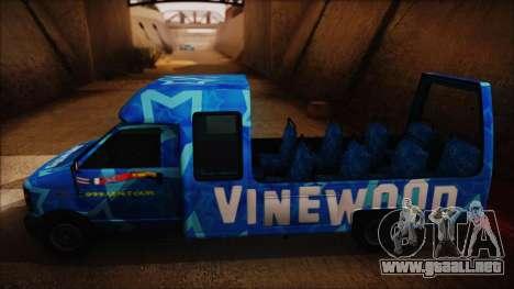 Vinewood VIP Star Tour Bus (Fixed) para GTA San Andreas vista posterior izquierda