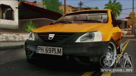 Dacia Logan Pickup 6x6 para la visión correcta GTA San Andreas