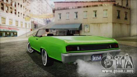 GTA 5 Albany Buccaneer Hydra Version IVF para GTA San Andreas left