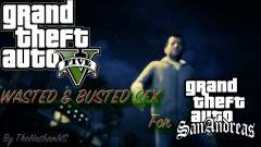 Cleo GTA 5 Wasted and Busted Sound para GTA San Andreas