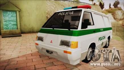 Mitsubishi L300 2008 Patrulla De La Policía Colombiana para GTA San Andreas
