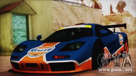 McLaren F1 GTR 1996 Gulf (GoodWood 2008) para GTA San Andreas