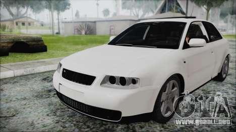 Audi A3 1.8 S3 para la visión correcta GTA San Andreas