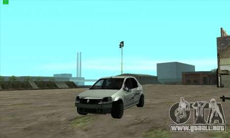 Renault Logan para la vista superior GTA San Andreas