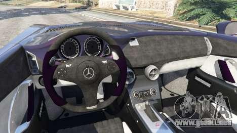 GTA 5 Mercedes-Benz SLR McLaren Stirling Moss vista lateral trasera derecha