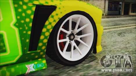 GTA 5 Bravado Buffalo Sprunk para GTA San Andreas vista posterior izquierda