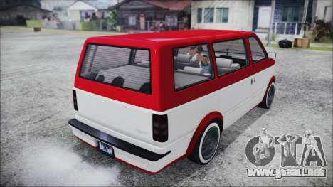 GTA 5 Declasse Moonbeam Bobble Version IVF para GTA San Andreas vista posterior izquierda