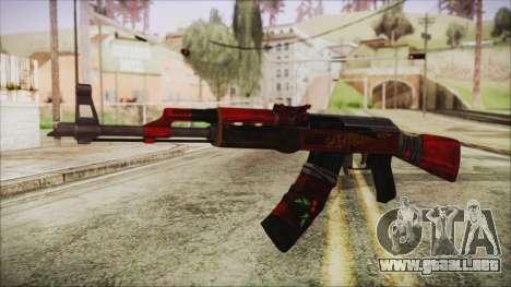 Xmas AK-47 para GTA San Andreas