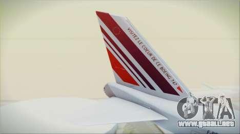 Boeing 747-128B Air France para GTA San Andreas vista posterior izquierda