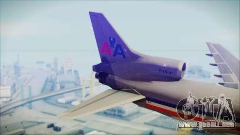 Lockheed L-1011 Tristar American Airlines para GTA San Andreas vista posterior izquierda