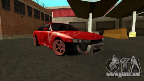 Nissan Silvia S14 Drift Red Star para la vista superior GTA San Andreas