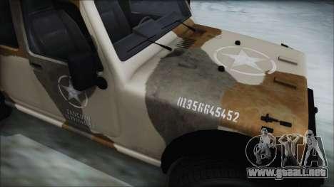 GTA 5 Canis Crusader IVF para GTA San Andreas vista posterior izquierda