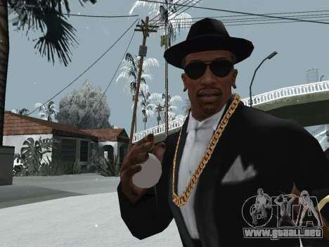 Lanzando la nieve para GTA San Andreas