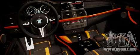 BMW X5M SMOTRA.GT para la visión correcta GTA San Andreas