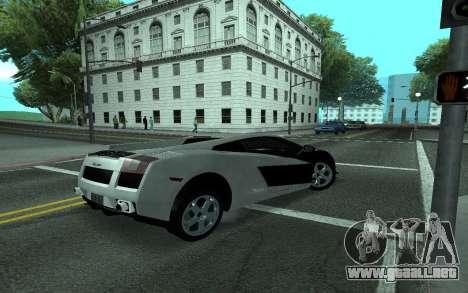 Lamborghini Gallardo Tunable para la vista superior GTA San Andreas