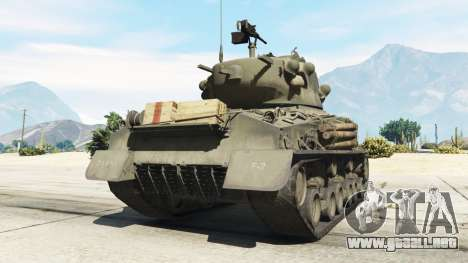 GTA 5 M4A3E8 Sherman Fury vista lateral izquierda trasera