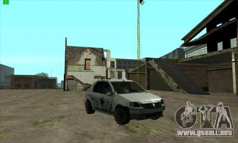 Renault Logan para GTA San Andreas vista hacia atrás
