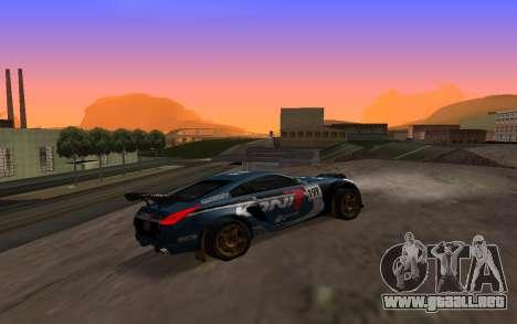 Nissan 350Z Rally para visión interna GTA San Andreas
