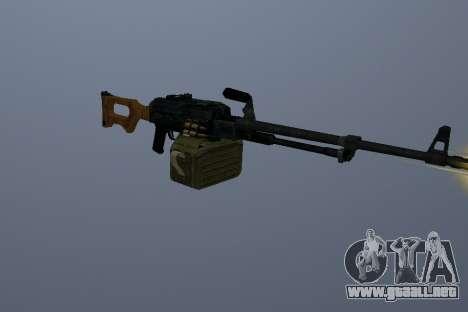 La Ametralladora Kalashnikov para GTA San Andreas tercera pantalla