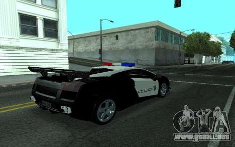 Lamborghini Gallardo Tunable para la visión correcta GTA San Andreas