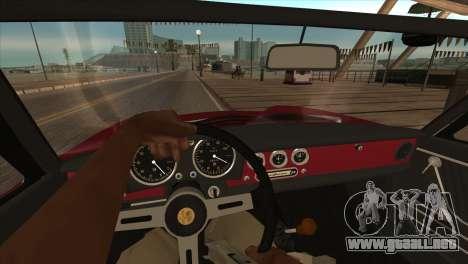 1966 Alfa Romeo Spider Duetto [IVF] para GTA San Andreas vista hacia atrás