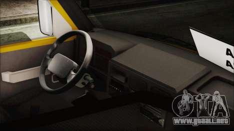 Iveco Turbo Daily Flota Valle De Tenza para GTA San Andreas vista posterior izquierda