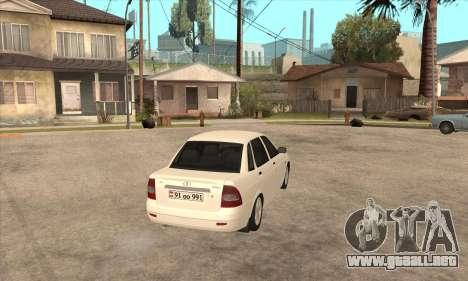 Lada Priora Armenian para la visión correcta GTA San Andreas