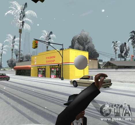 Lanzando la nieve para GTA San Andreas tercera pantalla