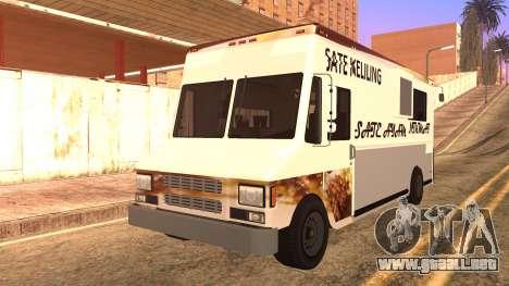 Sate Ayam (Chicken Satay) Van para GTA San Andreas vista hacia atrás