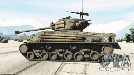 GTA 5 M4A3E8 Sherman Fury vista lateral izquierda