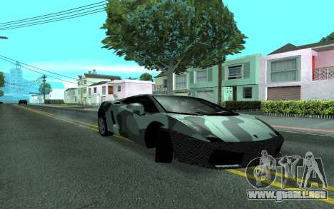 Lamborghini Gallardo Tunable para GTA San Andreas vista hacia atrás