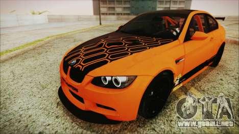 BMW M3 GTS 2011 IVF para GTA San Andreas interior