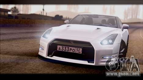 Nissan GT-R para la visión correcta GTA San Andreas