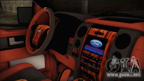 Ford F-150 SVT Raptor 2012 Stock Version para la visión correcta GTA San Andreas