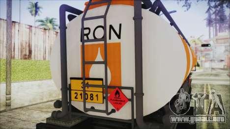 GTA 5 RON Tanker Trailer para la visión correcta GTA San Andreas