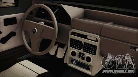 Fiat Uno Fire Tuning para la visión correcta GTA San Andreas