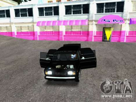 VAZ 2107-107 para GTA San Andreas vista hacia atrás