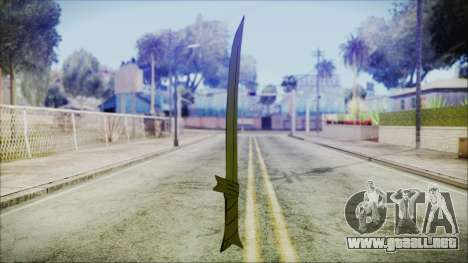 Grass Sword from Adventure Time para GTA San Andreas segunda pantalla