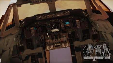 Boeing 747-237Bs Air India Krishna Deva Raya para GTA San Andreas vista hacia atrás