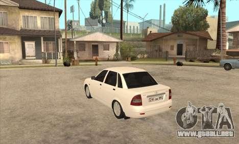Lada Priora Armenian para GTA San Andreas vista posterior izquierda
