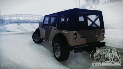 GTA 5 Canis Crusader IVF para GTA San Andreas left