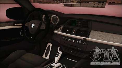 BMW X6 Georgia Police para la visión correcta GTA San Andreas