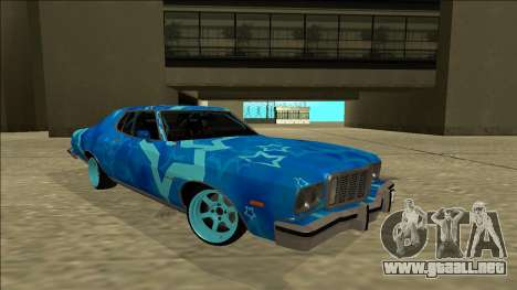 Ford Gran Torino Drift Blue Star para la visión correcta GTA San Andreas