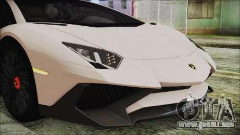 Lamborghini Aventador SV 2015 para visión interna GTA San Andreas