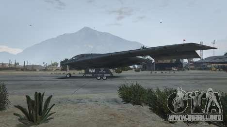 B-2A Spirit Stealth Bomber para GTA 5