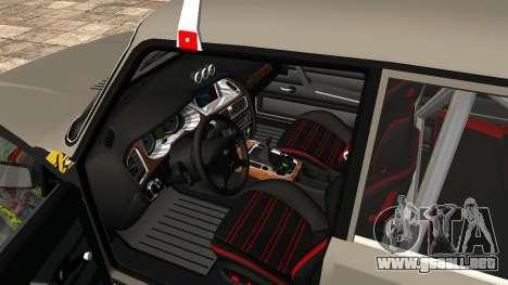 VAZ 2107 JDM para la visión correcta GTA San Andreas