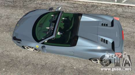 GTA 5 Ferrari 458 Spider 2012 vista trasera