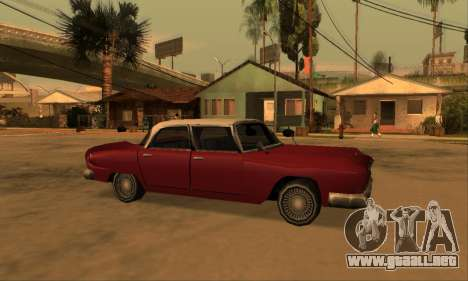 Oceanic Glendale 1961 para la vista superior GTA San Andreas